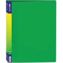 Папка пластиковая А4 на 4 кольца, зеленая