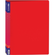 Папка пластикова А4 на 2 кільця, червона