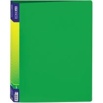 Папка пластиковая А4 на 2 кольца, зеленая