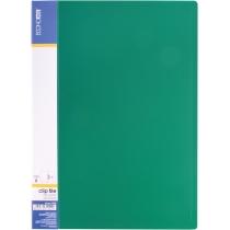 Папка с прижимом А4 пластиковая CLIP В, зеленая