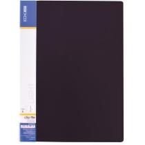 Папка-скоросшиватель А4 пластиковая CLIP А Light, черная