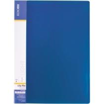 Папка-скоросшиватель А4 пластиковая CLIP А Light, синяя