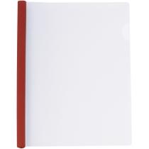 Папка А4 пластиковая с планкой-прижимом 65 л, красная