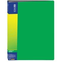 Папка пластикова з 40 файлами, зелена