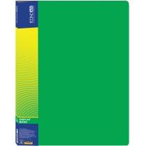 Папка пластиковая с 20 файлами, зеленая