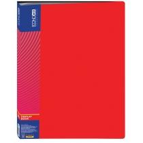 Папка пластикова з 40 файлами, червона