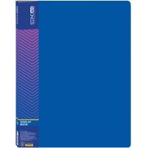 Папка пластиковая с 10 файлами, синяя