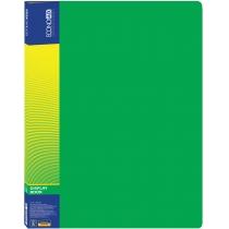 Папка пластиковая с 10 файлами, зеленая