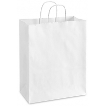 Пакет з ручками Ecobag розмір розмір 240х100х360 мм білий крафт