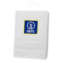 Пакет с ручками Ecobag размер 400х180х390 мм с лого