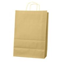Пакет с ручками Ecobag размер 400х180х390 мм коричневый крафт