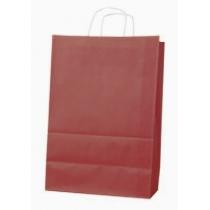 Пакет с ручками Ecobag размер 400х180х390 мм бордовый