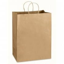 Пакет з ручками Ecobag розмір розмір  305х170х340 мм коричневий крафт