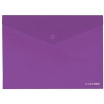 Папка-конверт В5 прозрачная на кнопке, фиолетовая(Е31302-12)