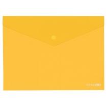 Папка-конверт В5 прозрачная на кнопке, желтая(Е31302-05)