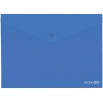 Папка-конверт В5 прозрачная на кнопке, синяя(Е31302-02)