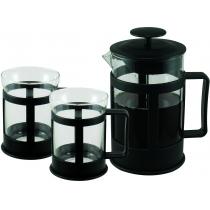 Заварник Con Brio+2 стакана,стекло,пластик,800мл