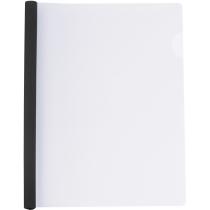 Папка А4 с планкой-зажимом 6 мм (2-35 листов), черная