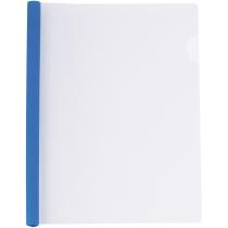 Папка А4 с планкой-зажимом 6 мм (2-35 листов), синяя