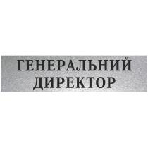 "Табличка стандартна ""ГЕНЕРАЛЬНИЙ ДИРЕКТОР"", 200х70 мм"