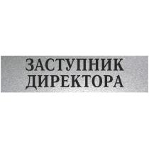 """Табличка стандартна """"ЗАСТУПНИК ДИРЕКТОРА"""", 200х70 мм"""