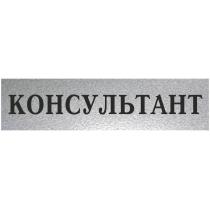 "Табличка стандартная ""КОНСУЛЬТАНТ"", 200х70 мм"