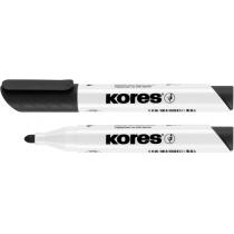 Маркер для білих дошок KORES 1-3 мм, чорний