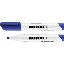 Маркер для білих дошок KORES 1-3 мм, синій