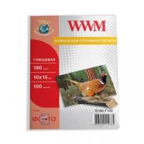 Фотопапір WWM 10x15, глянцевий, 180 г/м2, 100 арк.