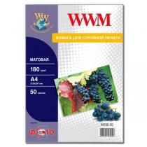 Фотопапір WWM A4, матовий, 180 г/м2, 50 арк.