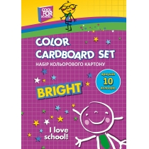 Набор цветного картона А5, 10 арк.,