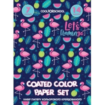 Набор цветной бумаги мелованной