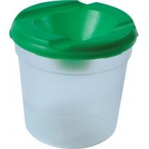 Стакан для кисточек НЕПРОЛИВАЙКА одинарный, пластиковый, цветной, с широким отверстием