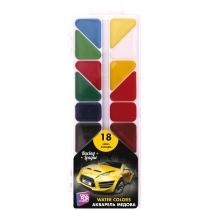 Акварель медовая Racing League, 18 цветов