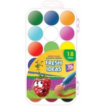 Акварель медова Fresh Idea, 18 кольорів