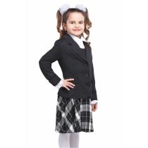 Жакет для девочки черный Анфиса 36-42 размер 40 рост 152 см