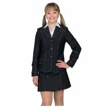 Жакет для девочки черный Аринка 36-42 размер 40 рост 152 см