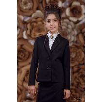 Жакет для девочки черный 9501-1 рост 122 см
