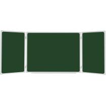 Дошка-триптих магнітна для крейди, 100х150/300см