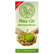 Нектар Наш Сок виноградно-яблочный 0.33 л