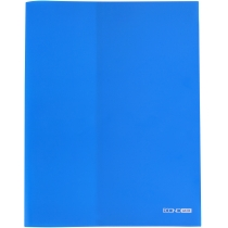 Папка А4 пластикова з відділенням для візиток, 180 мкм, напівпрозора, синя