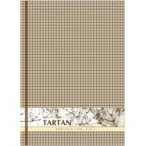 """Блокнот """"Тартан"""", А4, твердая обложка, 96 лист., полноцветная ламинированная обложка, клетка, синий"""