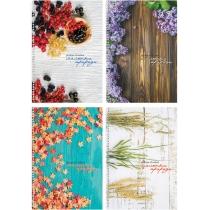 """Блокнот """"Рисунки природи"""", А4, боковая спираль, 80 лист.,  полноцветная обложка, офсет 65 г/м2, клет"""