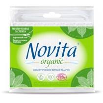 Палочки ватные NOVITA Organic в полиэтиленовом пакете 100 штук