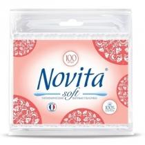 Палички ватні NOVITA Soft в поліетиленовому пакеті 100шт