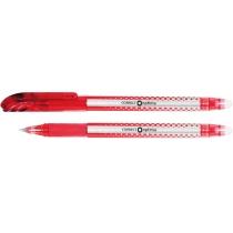 Ручка шариковая самостирающая Optima CORRECT красная