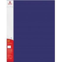 "Папка-швидкозшивач А4 з пружинним механізмом Optima CLIP A, фактура ""СМУГА"", синя"