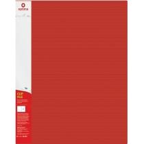 "Папка-швидкозшивач А4 з пружинним механізмом Optima CLIP A, фактура ""СМУГА"", червона"