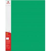"""Папка-швидкозшивач А4 з пружинним механізмом Optima CLIP A, фактура """"СМУГА"""", зелена"""