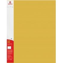 """Папка-швидкозшивач А4 з пружинним механізмом Optima CLIP A, фактура """"СМУГА"""", жовта"""